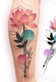 花卉紋身 9款唯美的小清新水彩花朵紋身圖片