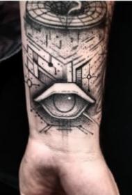 黑色眼睛紋身主題的9張紋身圖片