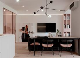 粉色調清新簡約現代風公寓
