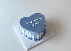 一組簡約風景Ins風格生日蛋糕