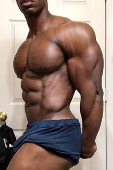 歐美黑人肌肉帥哥誘惑藝術照片