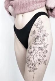 適合女孩子的小清新植物系小花卉紋身圖片