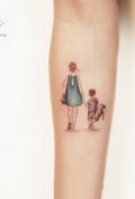 小清新的一組小臂簡約紋身圖案