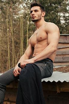 半裸歐美男神系肌肉寫真照片
