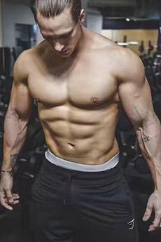 歐美性感肌肉男模寫真照片