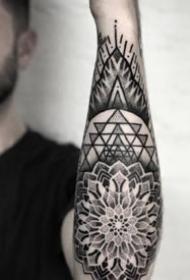 包小臂梵花紋身 16款小臂位置的黑色梵花紋身圖案