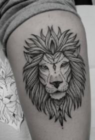 點線紋身 18款超帥氣的適合男生的黑灰點線紋身