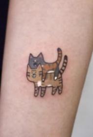小貓咪紋身 9組很可愛的小清新小貓咪紋身圖片