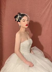 一組復古高級感的新娘發型圖片欣賞