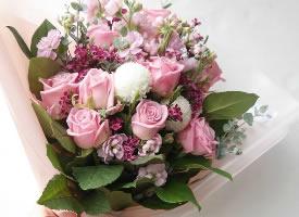 最懂女孩心的粉色系花束