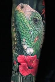 九款歐美寫實彩色系男性手臂紋身圖案