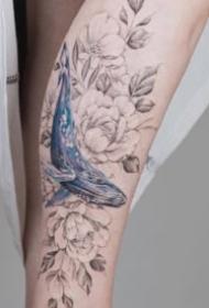 小臂素花紋身 9款女生小臂的小清新素花紋身圖片