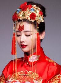 中式新娘發飾,只想和你執子之手與子偕老