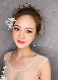 一組甜美韓式新娘發型圖片欣賞