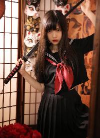 網紅美女模特霸氣制服寫真圖片