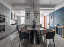 美式輕奢,不同材質和色彩來營造空間的氛圍