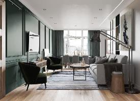 俄羅斯簡約公寓設計
