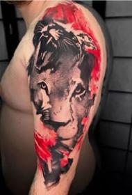 一組歐美霸氣男士手臂紋身圖案欣賞