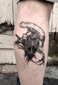 一組歐美黑灰帥氣男士紋身圖案欣賞