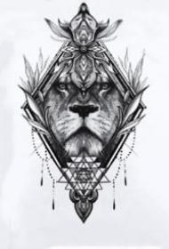 獅子座紋身 14款適合十二生肖的獅子紋身圖片