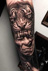 一組比較酷的歐美手臂紋身圖案
