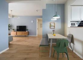 淡藍色北歐風格裝修的家