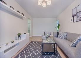 現代簡約風格的客廳裝修設計圖片