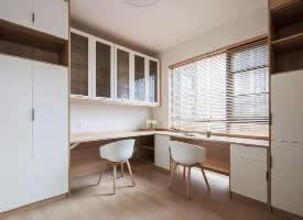 100㎡簡約原木風家居設計,簡潔清新的舒適感