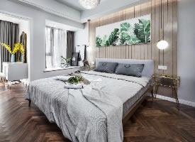 60平北歐溫馨二居室,淺灰系暖調公寓