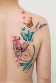 紋身蝴蝶圖 小清新的9款水彩蝴蝶紋身圖片