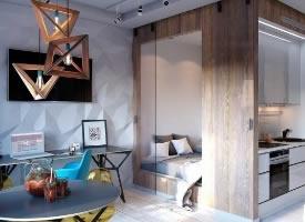 36㎡單身公寓設計,時尚獨特
