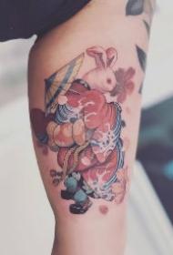 一组可爱的兔兔纹身图片