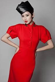 颖儿烈焰红唇复古时尚写真 个性妖媚迷人
