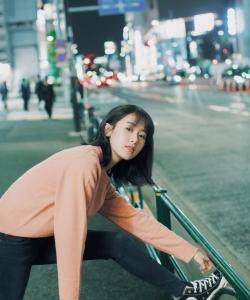 袁冰妍清新可愛街拍圖片