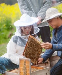 《哈哈農夫》楊超越采蜂蜜劇照圖片