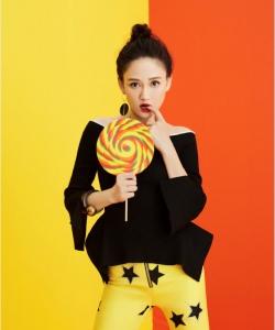 陳喬恩甜美俏皮時尚寫真圖片