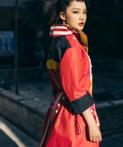 李沁酷美時尚街拍寫真圖片