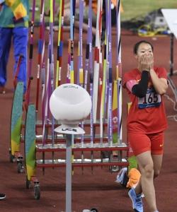 2018年雅加達亞運會圖片:中國選手劉詩穎獲女子標槍冠軍