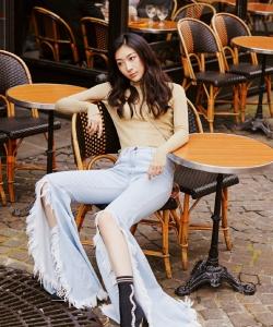 鐘祺圖片 鐘祺國外街頭時尚性感寫真
