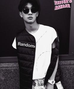 張宥浩圖片 張宥浩《時尚芭莎》黑白寫真圖片