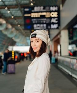 賈靜雯圖片    賈靜雯時尚機場照圖片