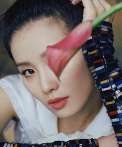 劉詩詩性感時尚雜志封面寫真圖片