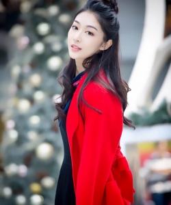 鐘祺圖片 鐘祺圣誕節性感魅力寫真