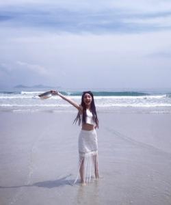 馬夢喬圖片 馬夢喬海邊沙灘寫真圖片
