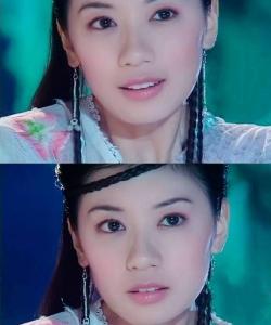 賈靜雯飾演的趙敏 童年的古裝女神
