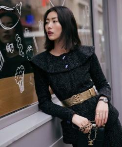 劉雯大片質感時尚街拍寫真圖片