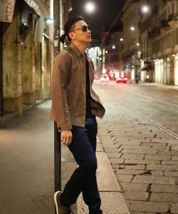 周一圍米蘭街頭時尚街拍圖片