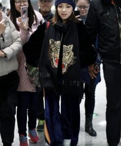 鄧紫棋機場時尚寫真圖片
