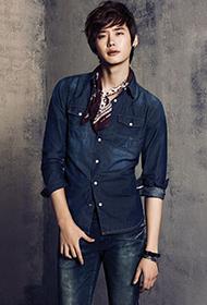 李钟硕牛仔套装帅气代言写真