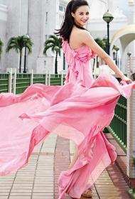女星张歆艺美裙尽显优雅迷人写真
